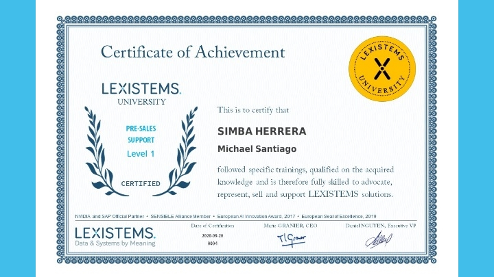 The LEXISTEMS University grants its first diplomas.